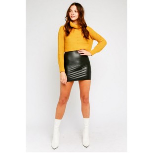 Liquid Leather Miniskirt