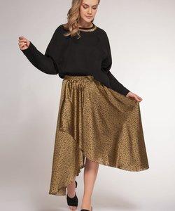 Pull On Leopard  Skirt