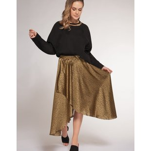 Pull On Leopard  Skirt