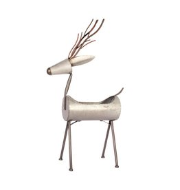 Candym Galvanized Deer Planter, 36""