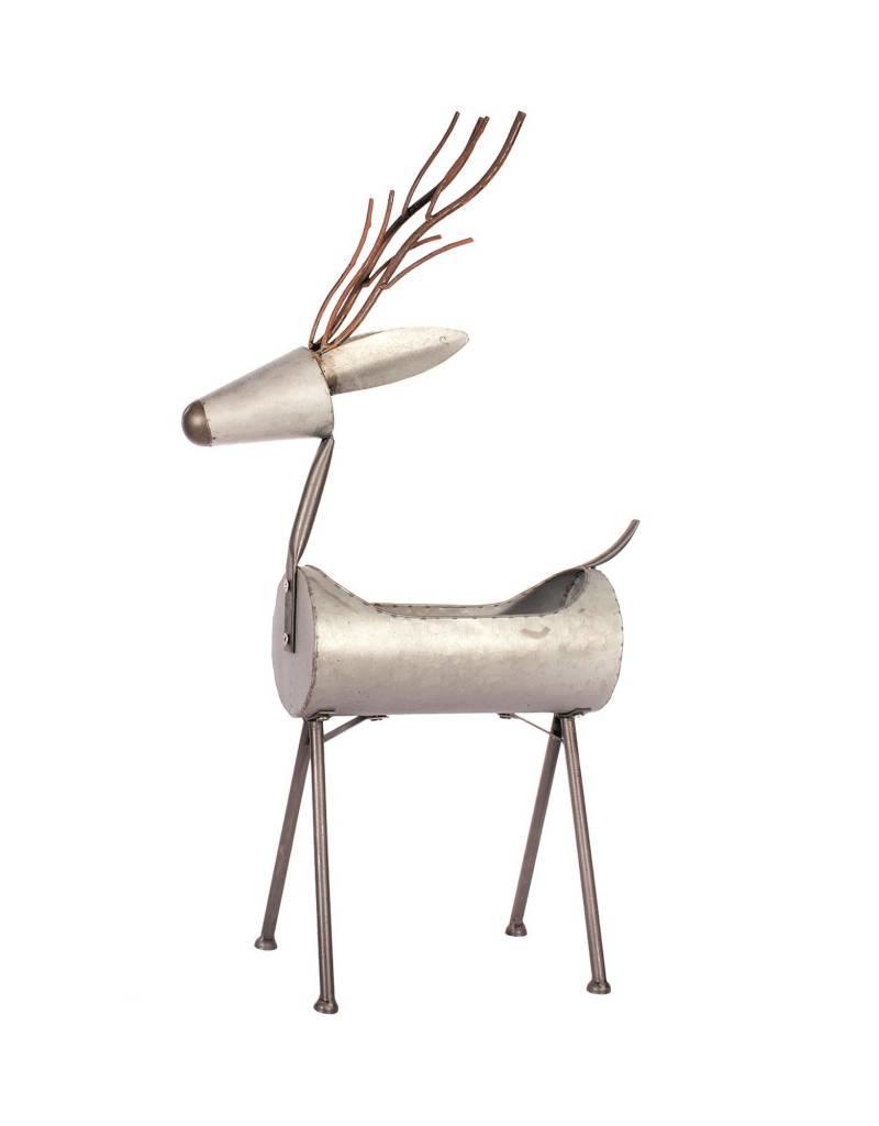 """Candym Galvanized Deer Planter, 36"""""""