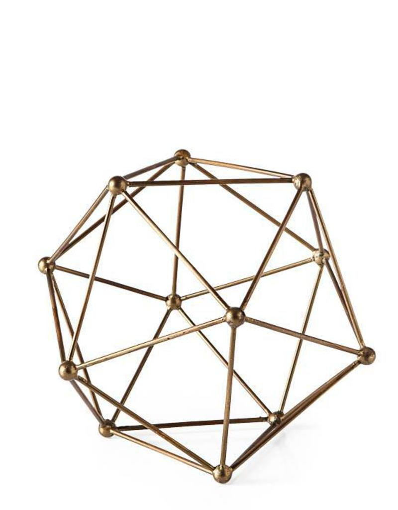 Torre & Tagus Polygon Brass Ball, Small