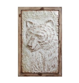 Creative Co-op Embossed Bear Wall Decor