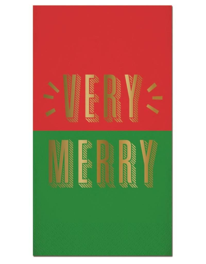 Old Country Design Very Merry Guest Towel