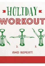Old Country Design Holiday Workout Cocktail Serviettes