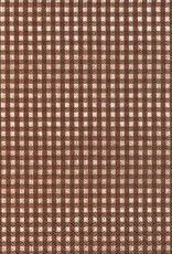Old Country Design Vichy Brown Luncheon Serviette