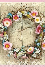Old Country Design Spring Wreath Cocktail Serviette