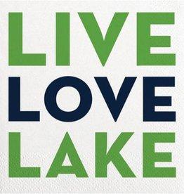 Old Country Design Live Love Lake - Quip Cocktail Serviette