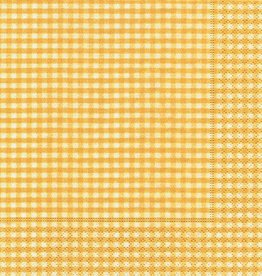 Old Country Design Vichy Yellow Cocktail Serviette