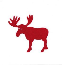 Old Country Design Moose Red Paviot Dinner Serviette