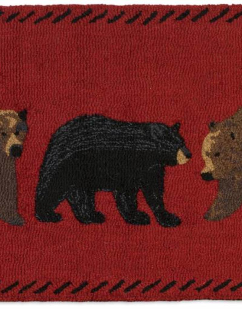 Chandler Four Corners Mixed Bears 2x4' Hooked Rug
