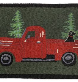Chandler Four Corners Buddy in the Back 2x4' Hooked Rug