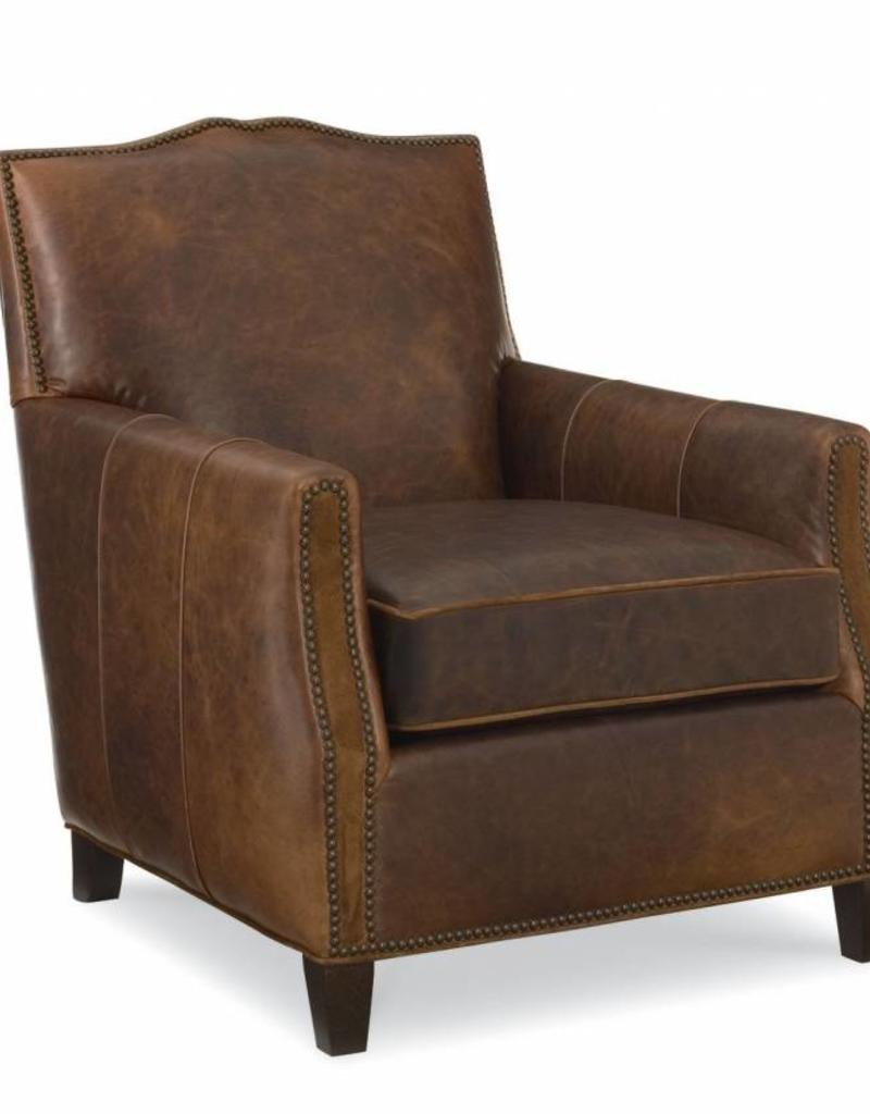 CR Laine Deville Chair- Java Finish - Leather