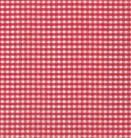 Old Country Design Vichy Red Luncheon Serviette