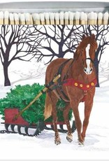 Paper Products Design Winter Horse Sleigh Matches