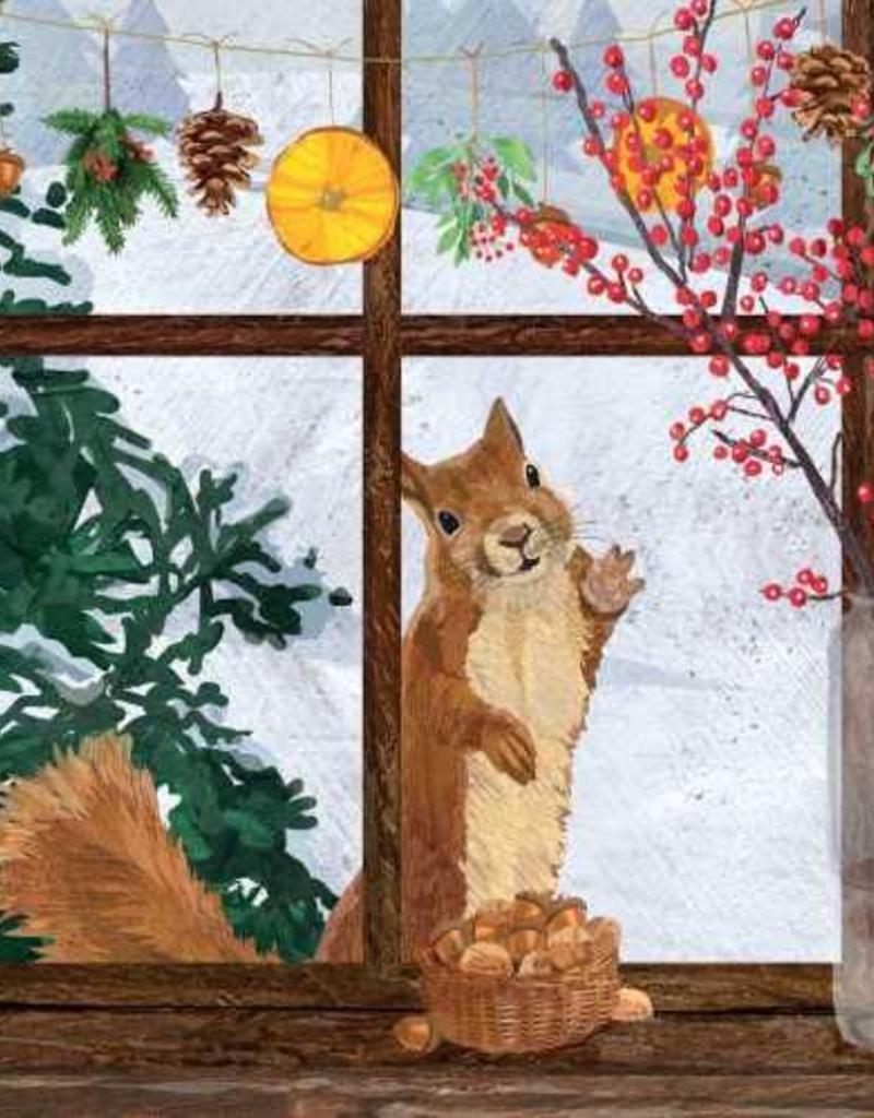 Paper Products Design Hearth Time Squirrel Beverage Napkin