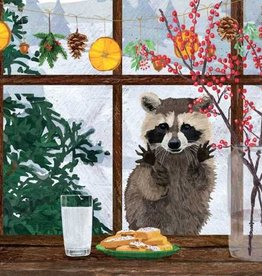 Paper Products Design Hearth Time Raccoon Beverage Napkin