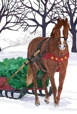 Paper Products Design Winter Horse Sleigh Lunch Napkin