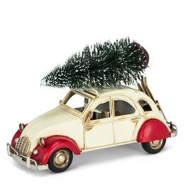 Abbott Large Citroen with Tree & Skis