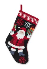 Abbott Holly Santa Stocking