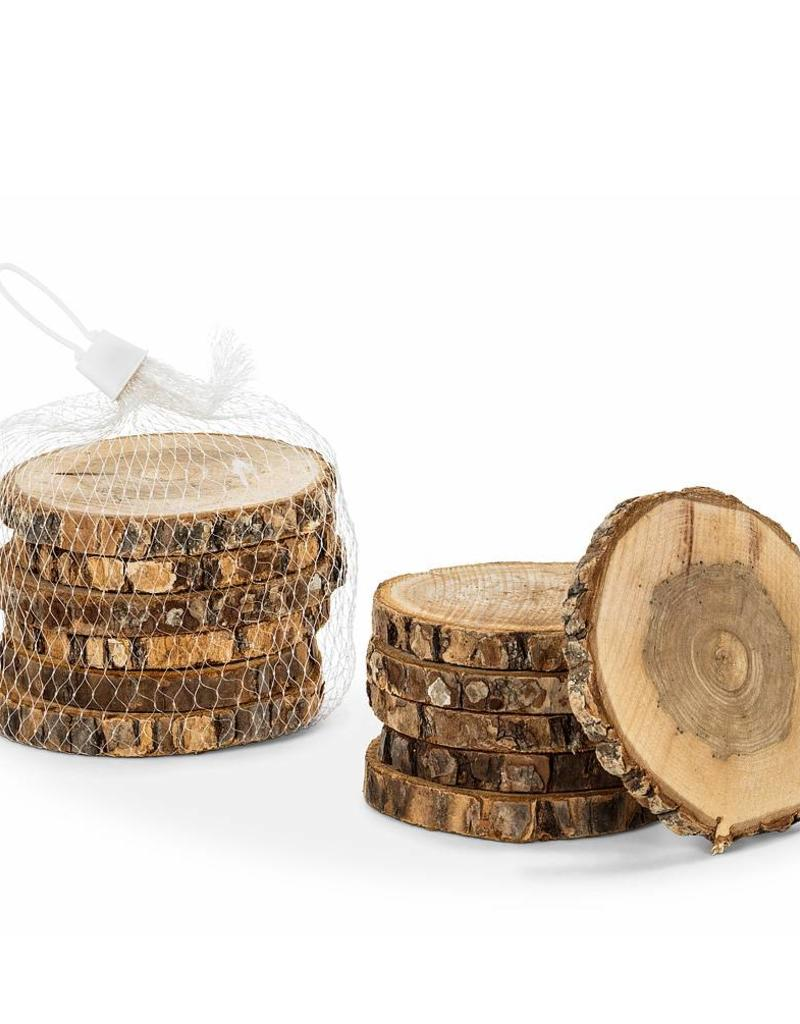 Abbott Set of 6 Natural Bark Coasters/Discs