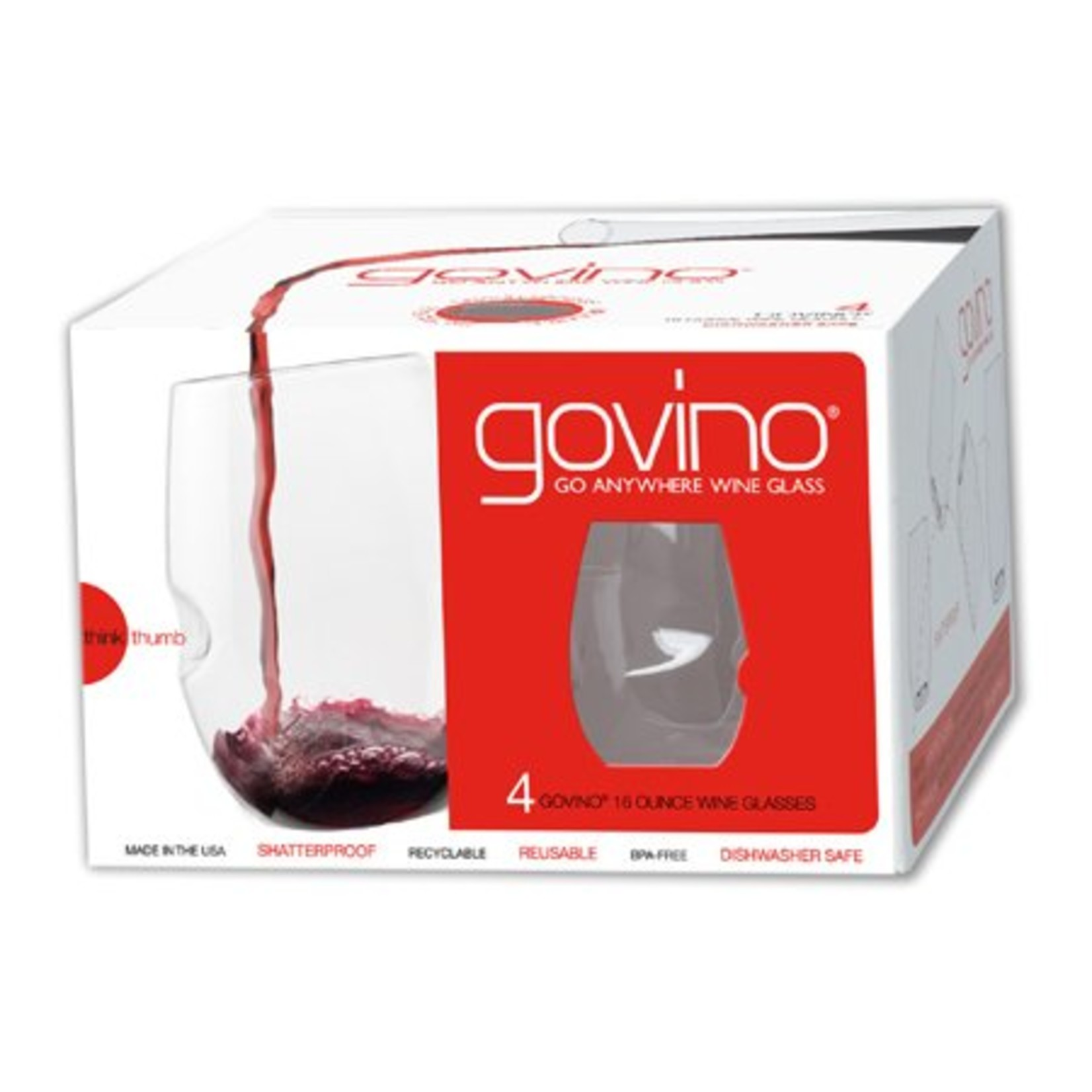 Govino 16oz Wine Glass 4 Pack