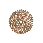 Azores Brown Round Placemat