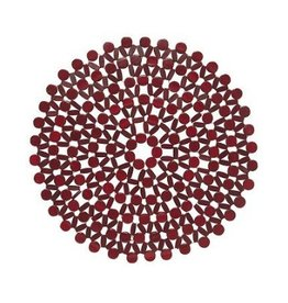Danica Azores Red Round Placemat
