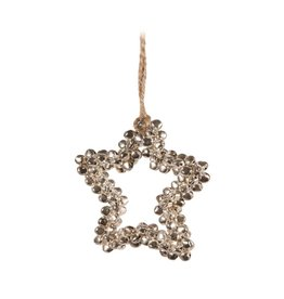 Candym Silver Mini Bells Star Ornament