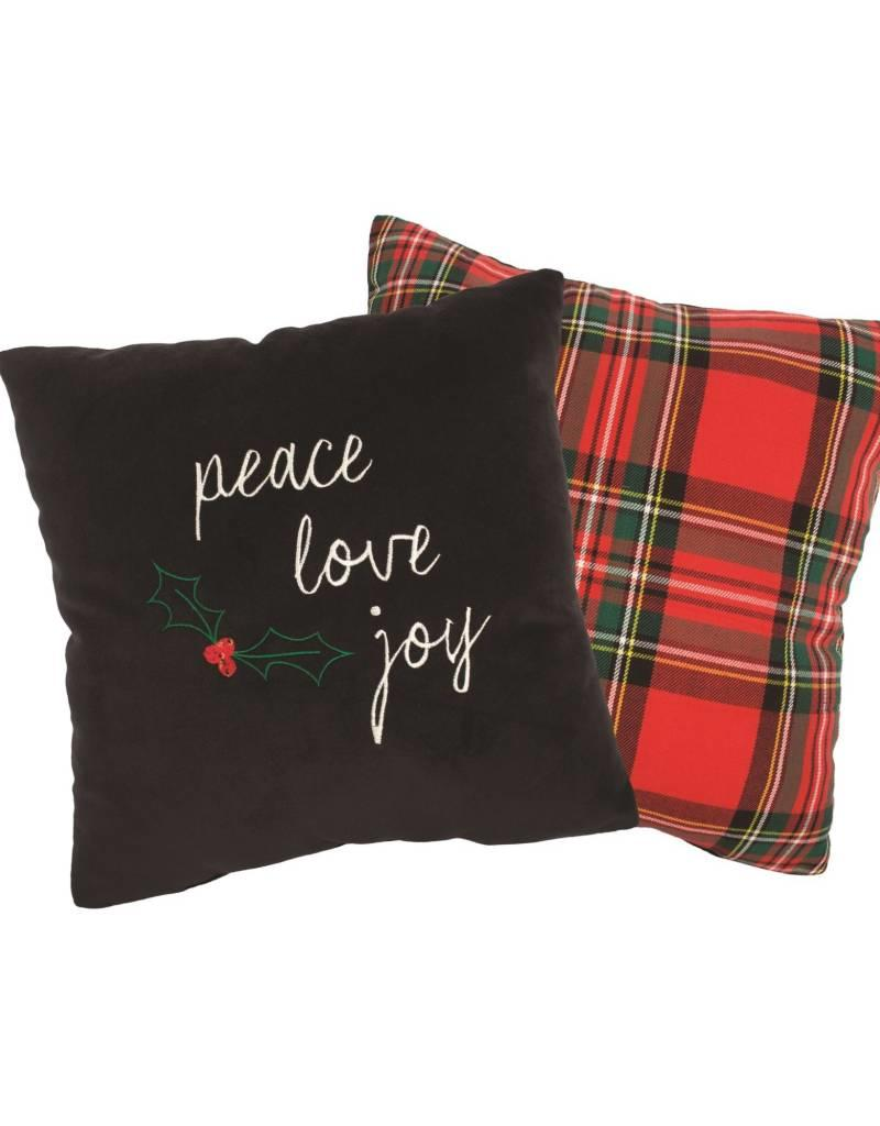 Candym Peace Joy Love Toss Pillow