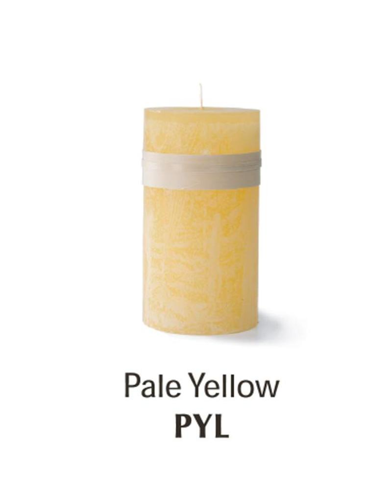 Vance Kitira Timber Candle, 4x8, Pale Yellow