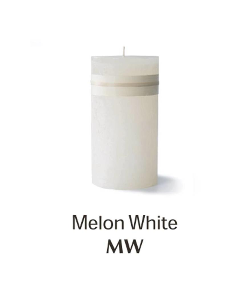 Vance Kitira Timber Candle, 3.25x6, Melon White