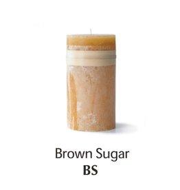 Vance Kitira Timber Candle, 4x4, Brown Sugar