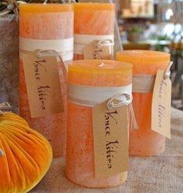 Vance Kitira Timber Candle, 4x4, Pumpkin
