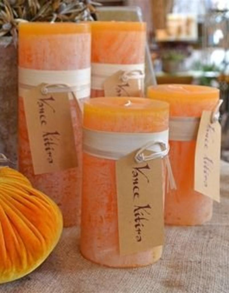 Vance Kitira Timber Candle, 4x4, Pumpkin