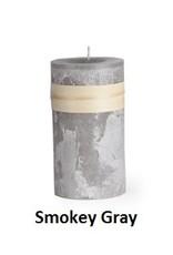 Vance Kitira Timber Candle, 4x4, Smoky Grey