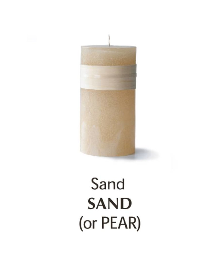 Vance Kitira Timber Candle, 3.25x6, Sand