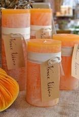 Vance Kitira Timber Candle, 3.25x6, Pumpkin