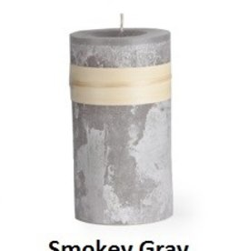 Vance Kitira Timber Candle, 3.25x6, Smoky Grey