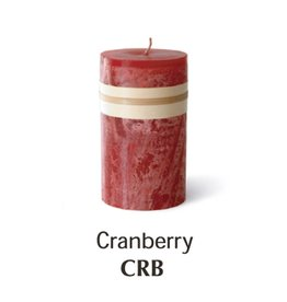 Vance Kitira Timber Candle, 4x8, Cranberry