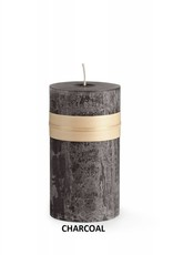 "Vance Kitira Timber Candle, 4x4"" Charcoal"