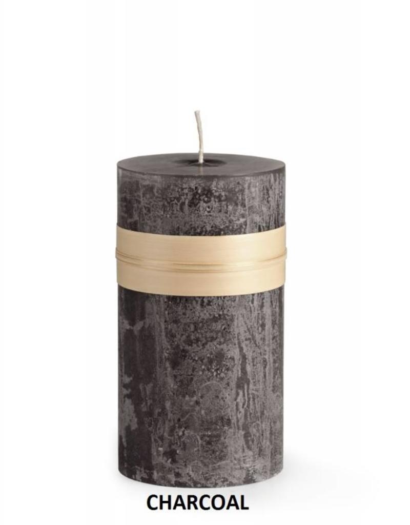 "Vance Kitira Timber Candle, 4x4"" Charcoal"
