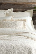 Pine Cone Hill Scramble Matelasse Coverlet Ivory Queen
