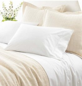 Pine Cone Hill Classic Hemstitch White Sheet Set, Queen