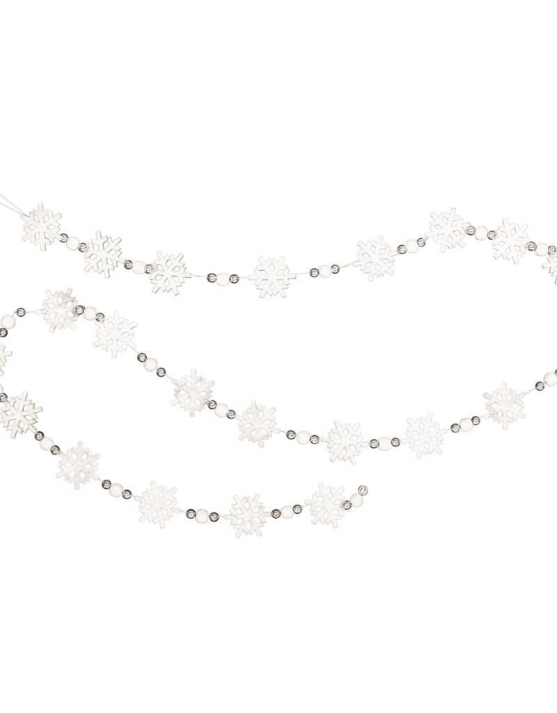 Candym Snowflake & Silver Bead Garland