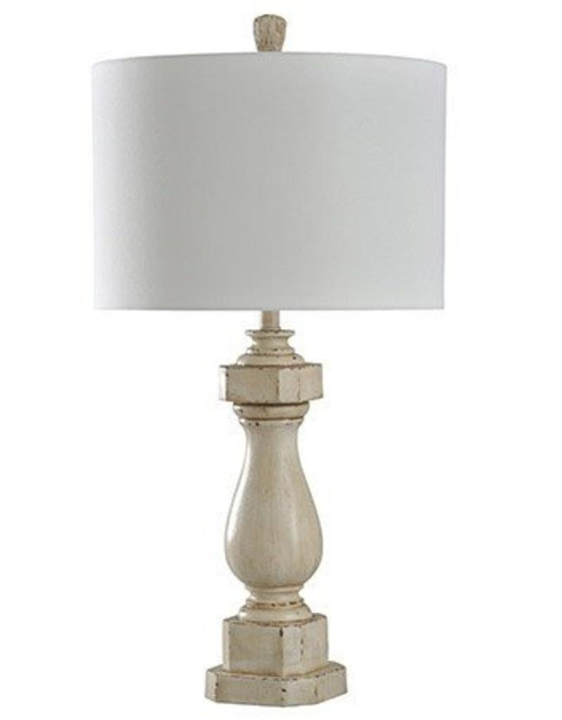 Style Craft Home Collection Old Cream Distressed Table Lamp