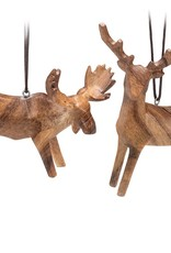 Abbott Wood Look Moose & Deer Ornament