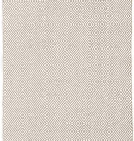 Dash & Albert Petit Diamond Platinum/Ivory Indoor/Outdoor Rug 2x3