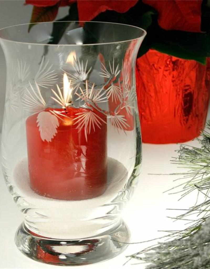 Rolf Glassware Icy Pinecone Hurricane