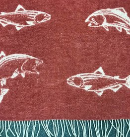 New New Horizons Trout Red Throw